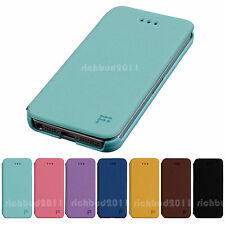 FEELOOK SLIM FLIP FLIP LEATHER WALLET COVER HARD CASE FOR APPLE IPHONE 5 5G