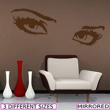 SEXY EYES LOOK VINYL WALL ART STICKERS DECALS MURALS TRANSFERS PRINT GRAPHICS