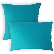 Aa150a Plain Solid Teal Blue Cotton Canvas Cushion Cover/Pillow Case*Custom Size