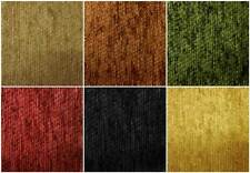 SOFT PLAIN SOLID COLOURED CHENILLE CURTAIN CUSHION MID WEIGHT UPHOLSTERY FABRIC