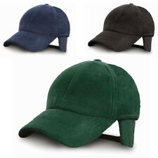 New RESULT Adults Winter Active Fleece Ear Flaps Cap Hat in Black Navy One Size