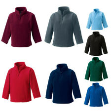 New RUSSELL Childrens Kids ¼ Quarter Zip Outdoor Fleece Top 8 Colours 3-12 years