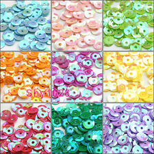 1500Pcs Cup Spacer Sequins/Paillettes 5mm 10Colors-1 Or Mixed R5007