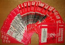 Liverpool Home Programme's 1966-1972 Div 1 + FAC  7/1/1961