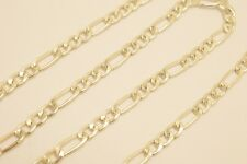 """Taxco Mexican Solid 925 Sterling Silver Figaro Chain Necklace.16""""- 28"""",15-26 g"""
