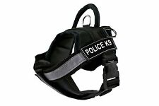 Fully Chest Padded Dog Harness with Velcro Patches: POLICE K9