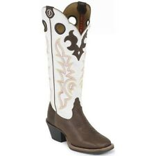 Tony Lama Women's 3R Beige Mustang Cowboy Western Leather Riding Boots RR2007L