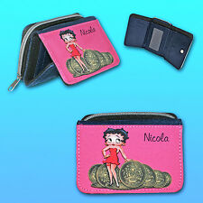 Betty Boop Personalised Ladies Purse Featuring Betty and Pound Coins + Any Name