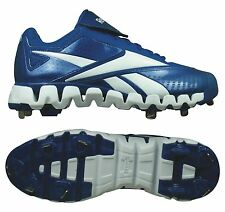 NEW Reebok Zig Cooperstown Low Metal Cleats - Royal/White