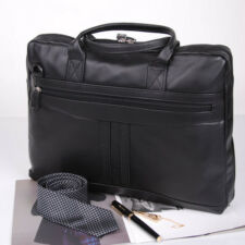 BELIVUS DB003 GENTLE briefcase/ high quality buffalo leather bag/ Blacks_M