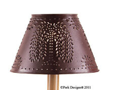 """Lamp Shade - Punched Metal Willow Tree in Red By Park Designs - 6"""", 10"""" or 12"""""""
