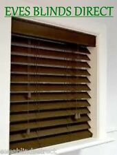 PREMIUM MADE TO MEASURE BLIND  WALNUT 35mm Wood Wooden Venetian Blinds