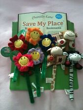 Nwt! Chantilly Lane Childs Save-My-Place Recordable Bookmark Flower or ZooAnimal