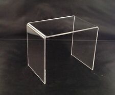 HIGH QUALITY CLEAR ACRYLIC DISPLAY RISERS PERSPEX DISPLAY STANDS PLINTHS