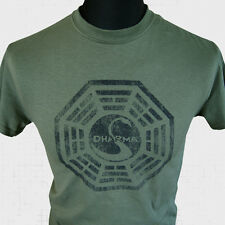 Dharma Initiative Lost T Shirt Logo TV Series Oceanic 815 Retro Vintage Cool New