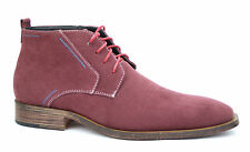 Men's Casual & Formal Ankle Desert Boots Red Suede UK 6 - 12 EU 40 - 46 New