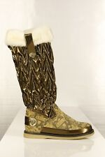 Ed Hardy Winter Boots by Christian Audigier brand new Beige white fur