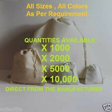 "Muslin bags with Drawstring * Direct from the Manufacturer""  See Sizes"
