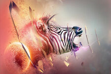 Fantasy Zebra Home Decor Canvas Print, choose your size.