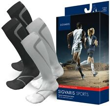 Sigvaris 412 Performance Compression Running Socks, 20-30mmHg