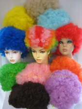 1960s 1970s Colorful Afro Wig Hippie Clown Halloween Costume Accessory 1466