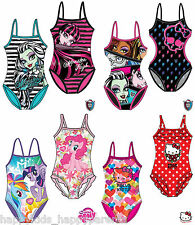 New Girls CHARACTER Hello Kitty Monster High Swimsuit Swimming Costume Swimwear