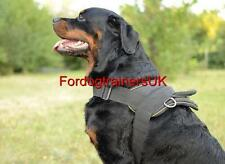 New Dog Harness for Rottweiler and similar Strong  Dogs, Black Nylon