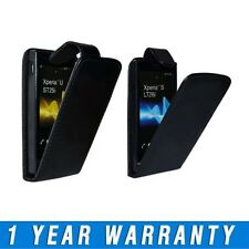 Stylish Leather Flip Case Cover Pouch & Screen Protector For Sony Mobile Phones