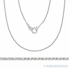925 Sterling Silver Rhodium Anti-Tarnish Snake Link Chain Italian Italy Necklace
