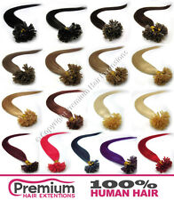 "22"" Pre Bonded 100% Remy Human Hair Extensions, Nail Tip U Shape, Choose colour"
