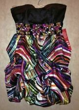 SPEECHLESS Sexy Striped Strapless Short Prom Homecoming DRESS Formal New Jrs 3