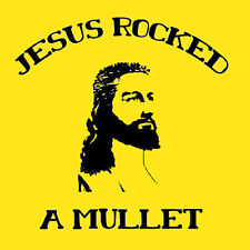 Jesus Rocked A Mullet funny bogan Holy Land Haircut T shirt all sizes!