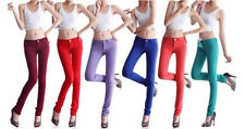 Women Lady Skinny Slim candy pencil Jeans pants Trousers Super Stretch CL12