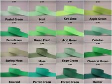 5yds~~25mm Solid Grosgrain Ribbon 9 Colours U Pick -- GREEN