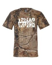 I Plead the 2nd. Amendment w/ Bullet Holes RealTree Camouflage Men's Tee Shirt53