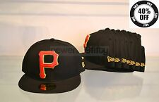 "New Era ""P"" Pittsburgh Pirates Felt Cap, Black/Red/Green"