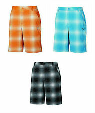 PUMA Golf Rickie Fowler Mens Tech Ombre Plaid Bermudas Shorts NWT pick sizecolor