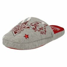 GIRLS GREY & RED HSM SLIPPERS EAST HIGH