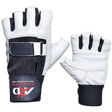 ARD Heavy Duty Weight Lifting Gloves Gym Training Leather PADDED Palm