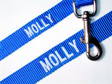 Nylon Pet Leash Personalized Embroidered Dog Cat Choose Size / Color