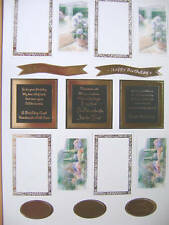 2 x A4 Redhot Bed Card Toppers – Choose From Cottage Garden Style