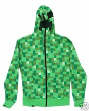 Minecraft Video Game Creeper Adult Green Hoodie Jacket -  Officially Licensed