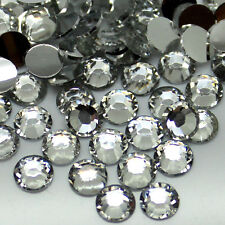 Wholesale 2000~50000pcs 2~6mm 14 Facets Resin Flatback Rhinestones Clear Crystal