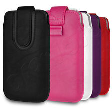 Deluxe PU Leather Pouch Case Cover Skin With Pull-Tab For Your Mobile Phone