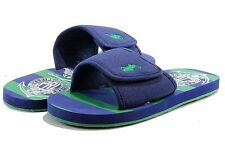 Polo Ralph Lauren Boy's Fashion Sandal Waayler Slide Navy/Kelley Green Shoes