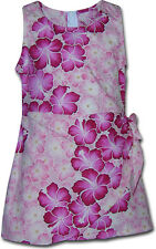 Girls Sarong Hawaiian Dresses Style-172 NEW 100% Cotton Made in Hawaii. USA.