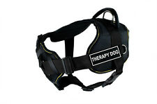 DT FUN w/ Chest Support Working Dog Harness in yellow trim - THERAPY DOG