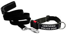 DT Dog Collar & Leash Bundle with Velcro Patch - CERTIFIED POLICE DOG