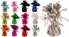 6 Foil Balloon Weights - 12 Colours To Choose - Metallic Birthday Party