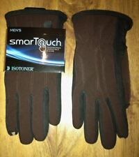 ISOTONER SmarTouch Touch Screen Compatible Brown w/ Black Gloves NEW Mens Sz M